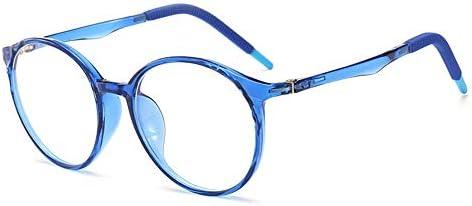 VEVESMUNDO Kinderbrille Anti Blaulichtfilter Computerbrille Brillenfassung Silikon Ohne Sehstärke Rund Brillenrahmen Brillengestell mit Etui Für Mädchen Jungen