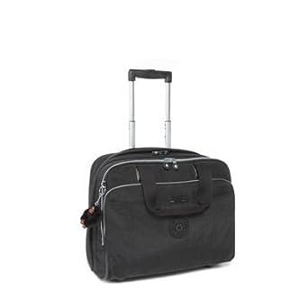 3df230d858 Kipling Black New Ceroc Wheeled Office Work Bag: Amazon.co.uk: Clothing