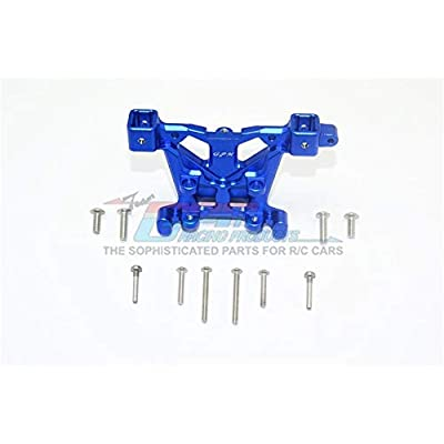 GPM Traxxas E-Revo 2.0 VXL Brushless (86086-4) Upgrade Parts Aluminum Rear Body Post Mount - 1Pc Set Blue: Toys & Games