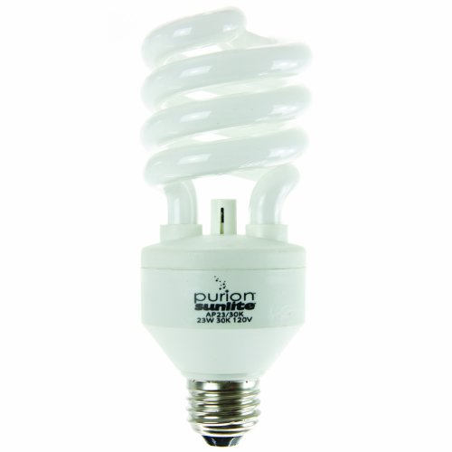Sunlite AP23/65K 23 Watt Purion Spiral Energy Saving Air Purifying Ionic Light Bulb Medium Base Daylight by Sunlite