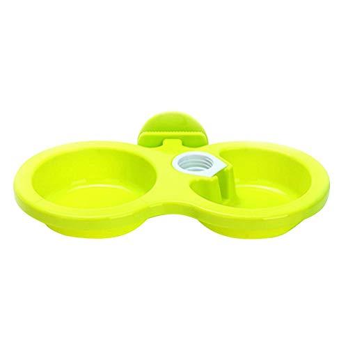 間欠判定未亡人SIKIWIND ペット 自動給水器 犬 猫 餌入れ 水飲み器 フードボウル ペットボトル スタンド 水入れ えさ 皿 (S) l绿