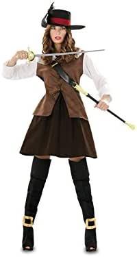 Disfraz de Juliette marrón para mujer talla M-L: Amazon.es ...