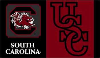 NCAA South Carolina Fighting Gamecocks Car Flag with Free Wall Bracket ()