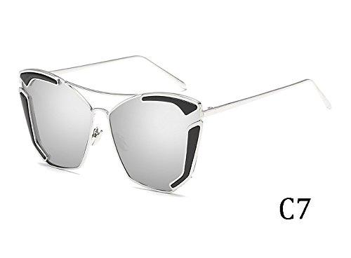 Multicolor sol Sunglasses TL mujer UV400 sol de sexy Unas gafas de enormes 3015C2 gafas 3015C7 de wzqzSx7