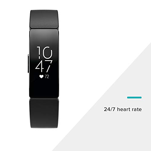 Fitbit Inspire HR Heart Rate & Fitness Tracker, One Size (S & L