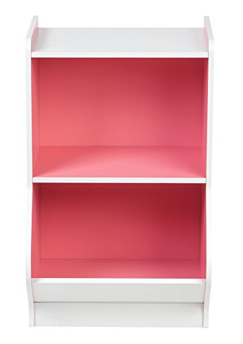 IRIS 2-Tier Storage Organizer Shelf with Footboard, White and Pink by IRIS USA, Inc. (Image #1)