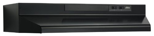 Broan-NuTone Broan F403023 Two-Speed Four-Way Convertible Range Hood, 30-Inch, Black, (Best Non Vented Range Hood)