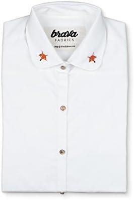 Brava Fabrics - Blusa para Mujer - Camisa Blanca para Mujer ...