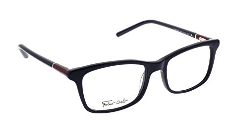 FABIO CIELO (#5353), Italian Eyeglasses 51mm, Elegant Unisex RX Prescription Optical Frames Authentic Glasses Includes Case, Made In Italy (Dark - Eyeglasses Italian Mens