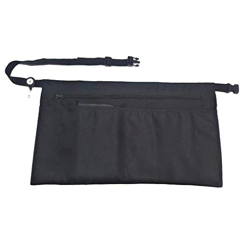 5 Pockets Black Waist Apron (22x13 inches). Clip-on for sale  Delivered anywhere in USA