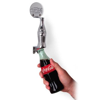 TableCraft CC312 Coca-Cola Chrome Plated Metal Door Pull Opener with Contour Handle