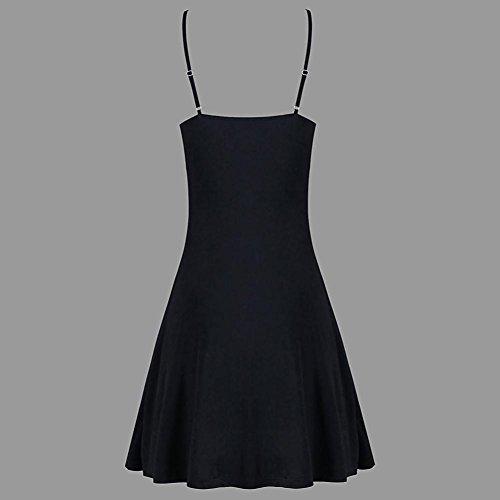 La Fiesta Moda De Playa Mini Sin La del Ganchillo Vestido De De del del Mangas Mujeres Vestido Negro Verano del CordóN Las Halter Mujer Vestidos qgxwUf8qt