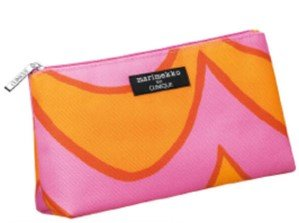 Marimekko - Bolsa de maquillaje para Clinique naranja y rosa ...