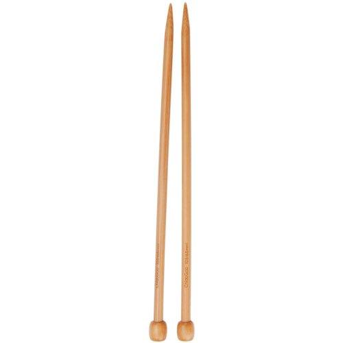 Takumi Bamboo Single - ChiaoGoo Single Point 9 inch (23cm) Bamboo Dark Patina Knitting Needle Size US 6 (4mm) 1031-6