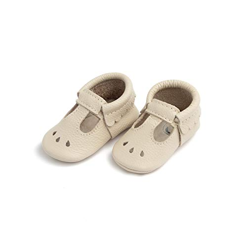 Freshly Picked - Soft Sole Leather Mary Jane Moccasins - Baby Girl Shoes - Size 2 Birch Ivory (Freshly Picked)