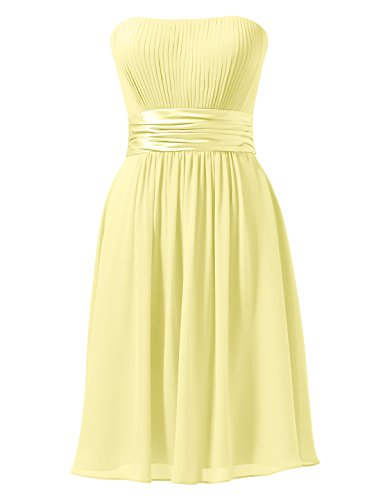 Bridal Short Yellow Bridesmaid Dress Homecoming Gown Party A Cocktail Alicepub Line Dress dt4wAAq