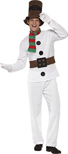 Mr Snowman Adult Mens Costumes (Smiffy's Men's Mr Snowman Costume Medium Multi)