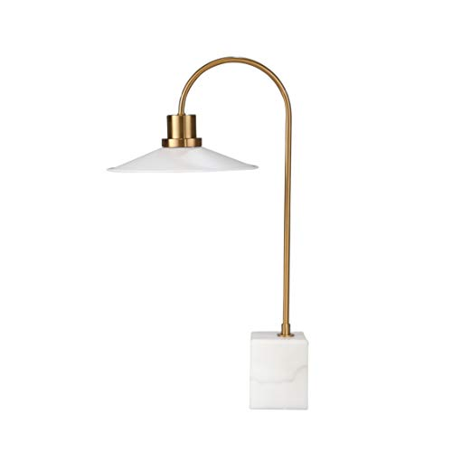 Gold/White Metal Desk Lamp with Marble Base Lucia-06 by Benedi -
