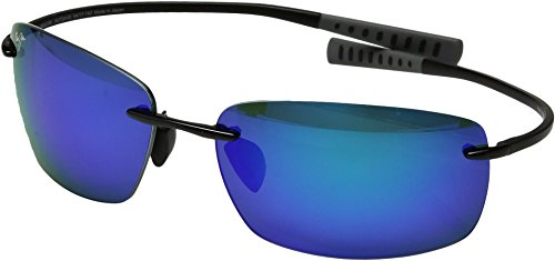 Maui Jim Unisex Kumu Gloss Black/Blue Hawaii One - Titanium Sport Maui Jim