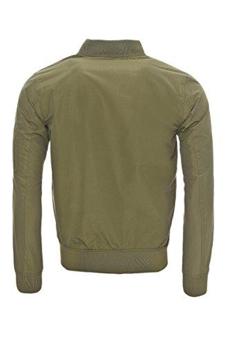Verde Lichen Lunghe Green Basic Bomber Giacca Deep Uomo Jacket Jack amp; Jones Maniche Bzwq6p
