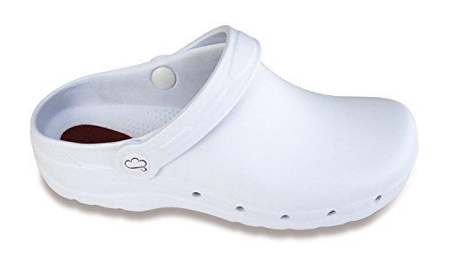 Feliz Sanitario Flotantes Zueco Caminar Blanco Antiestático aqx1SwOz