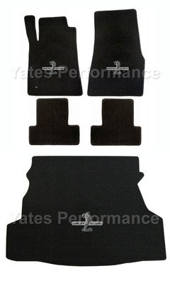 2011-2012 Shelby GT-500 Coupe Black Floor & Trunk Mats - GT500 Cobra Logo