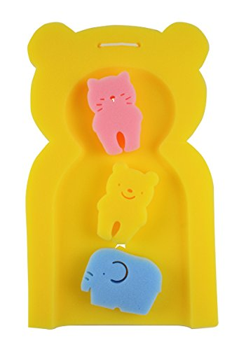 TotMart Infant Bath Sponge, Newborn Essential, Yellow