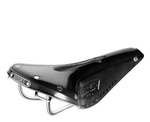Imperial Saddle - Brooks Saddles Imperial B17 Narrow Bicycle Saddle with Hole and Laces (Black)
