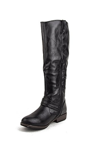 Bamboo Montana-17 Knee High Buckle Riding Boot
