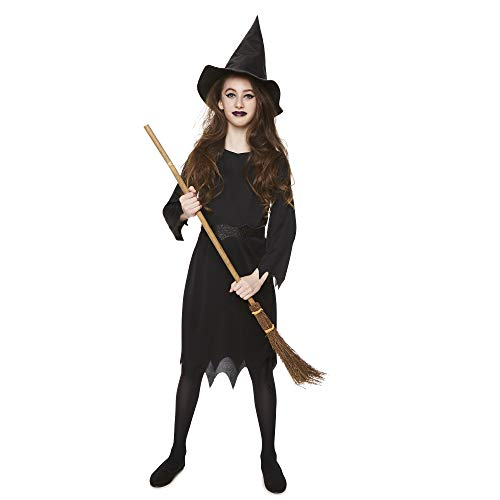 Girl's Black Witch Costume for Halloween Costume Party Accessory, Small