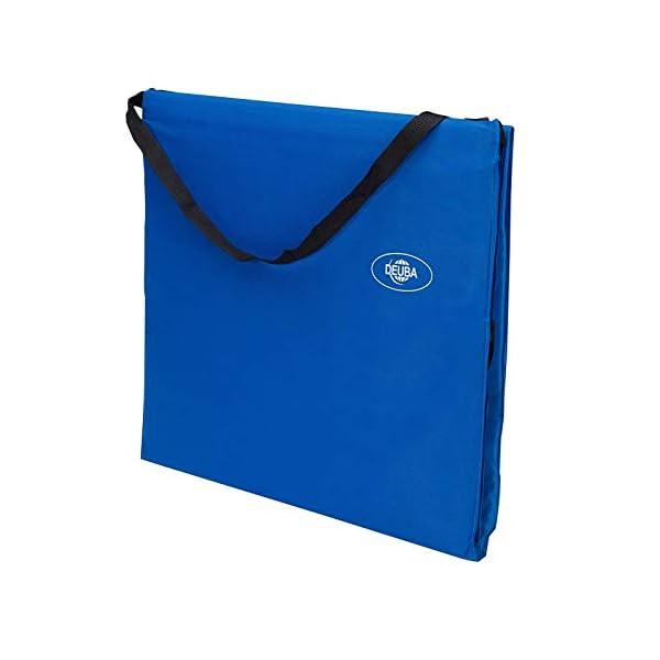 31yLhHFqUNL Deuba 2X Strandmatte Faltbar Gepolstert Kissen verstellbare Rückenlehne Staufach Badematte Isomatte Strandtuch Blau