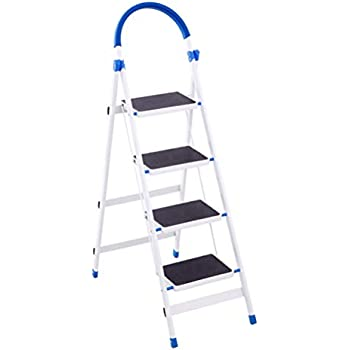Jiede 4 Step Ladder With Handrails Big Step Folding Step