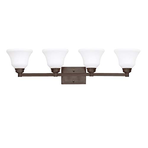 Bathroom Vanity 4 Light Fixtures with Olde Bronze Finish Medium Bulb Type 35