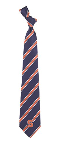 Syracuse Striped Mens Neck Tie with NCAA College Sports Team Logo