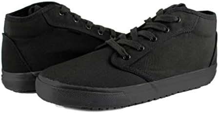 TK's Cheryl Slip Resistant Black Sunbrella Mid Top Water Resistant Non Slip Waitress Shoes