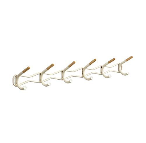Safco Products 4257CRM Family Coat Wall Rack, 6 Hook, Cream