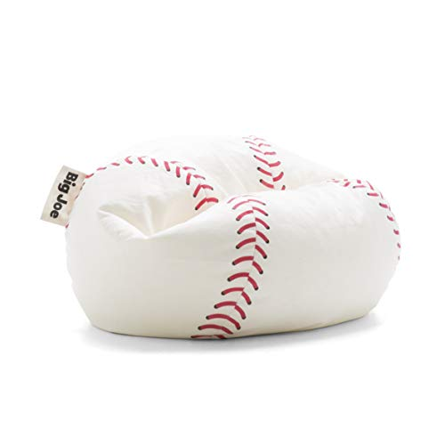 Big Joe 0614536 Sportsball Baseball Plush, One Size, White, Red