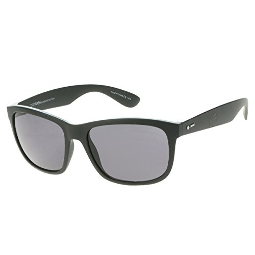 Dot Dash Unisex Poseur Sunglasses, Black Satin w/ Grey Lens, ()