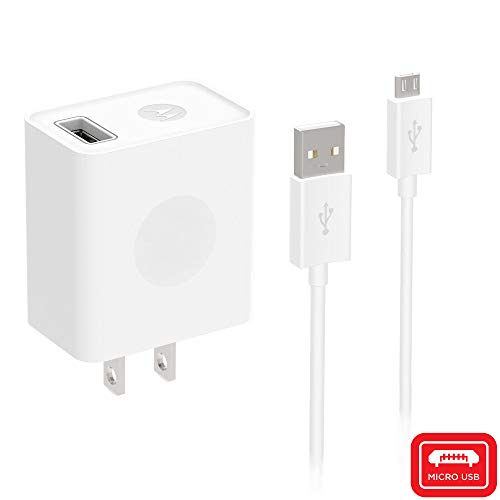 Motorola 10W, Retail Box Wall Charger for Moto G5, E4, E4 Plus, G4 Play, Micro-USB Devices (Retail Packaging) - White
