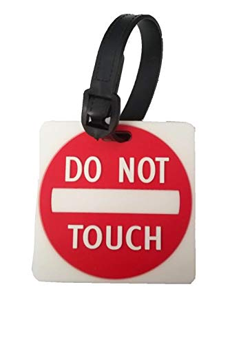 DO NOT TOUCH Street Sign Luggage Tag Accessory Travel In Style Vacation Cruise (Red)