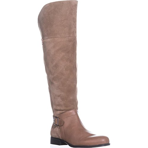Naturalizer Oatmeal January Boots The Riding Over Knee qwraYqH