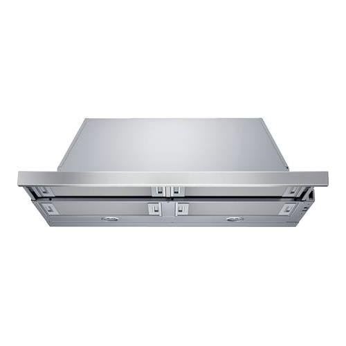 "Bosch HUI56551UC 36"" 500 Series Pull-Out Range Hood With 500 CFM 4 Aluminum Mesh Filters 3 Speed Slider Switch Control And 2 Halogen Lights: Stainless Steel"