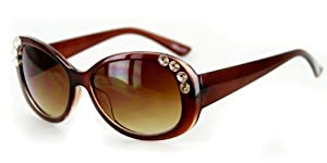 """Chloe"" Designer Inspired Womens Sunglasses. Gem Accents in 6 Popular Colors"