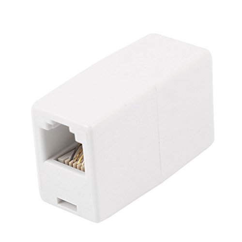 uxcell 6P4C RJ11 to RJ11 Female/Female Telephone Cable Coupler Adapter White