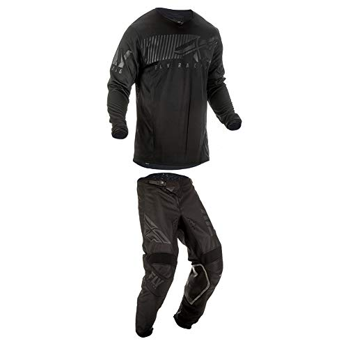 Fly Racing 2019 Kinetic Shield Jersey and Pants Combo Black 2X,40