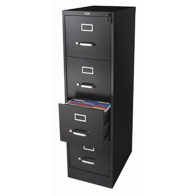(4 Drawer Letter Size Commercial File Finish: Black )