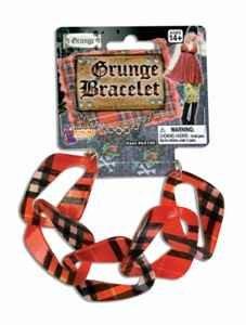 Forum Novelties 64596 Grunge Plaid Chain Bracelet]()