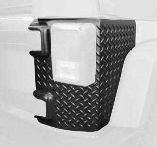 Rugged Ridge 11651.01 Black Diamond Plate Rear Tall Corner - (Jeep Wrangler Diamond Plate)
