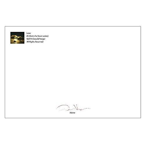 Cheap Aqua Sea Glass Heart Postcard Prints 10 Pack 4x6 Best Quality Gifts Birthday Cards