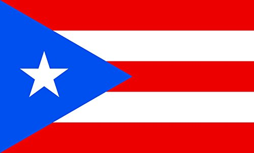 (DIPLOMAT-FLAGS magFlags Indoor-Flag with Modern Chrome Flag Pole and Marble Base: Puerto Rico || Flag Pole Height: 230cm | 7.5 ft)